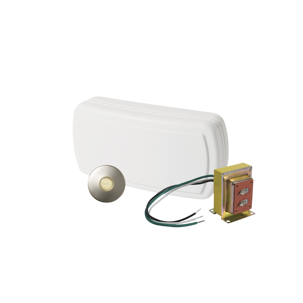 Builder Kit Doorbell with Satin Nickel Pushbutton