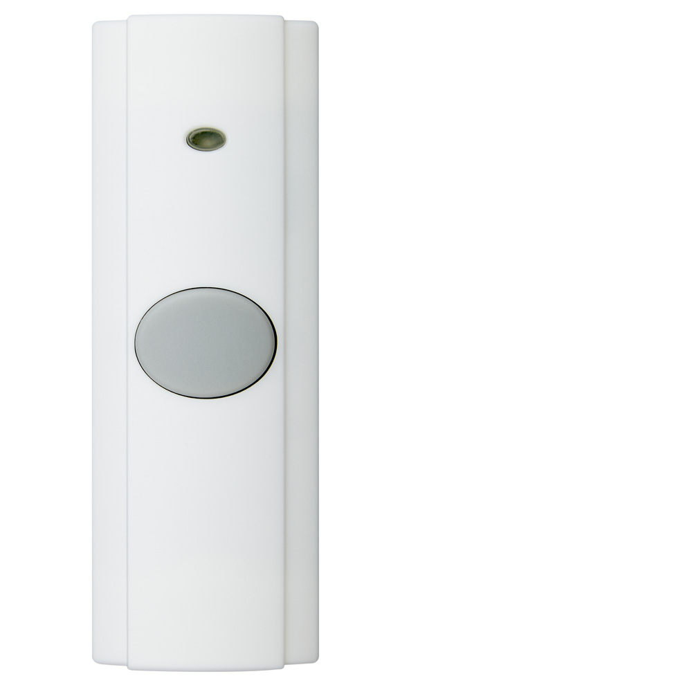 Wireless Unlighted White Pushbutton