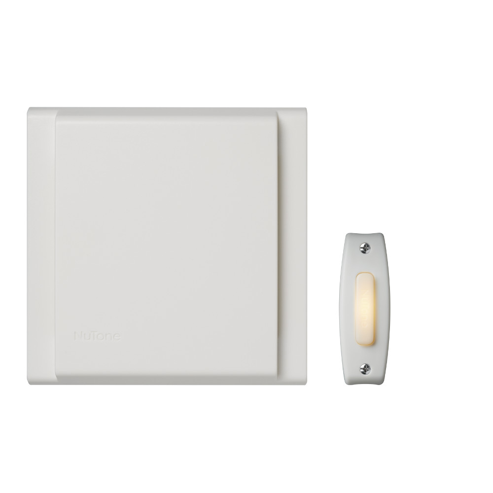 Line Voltage Wired Doorbell  w/ LED Lighted White Pushbutton Builder Kit