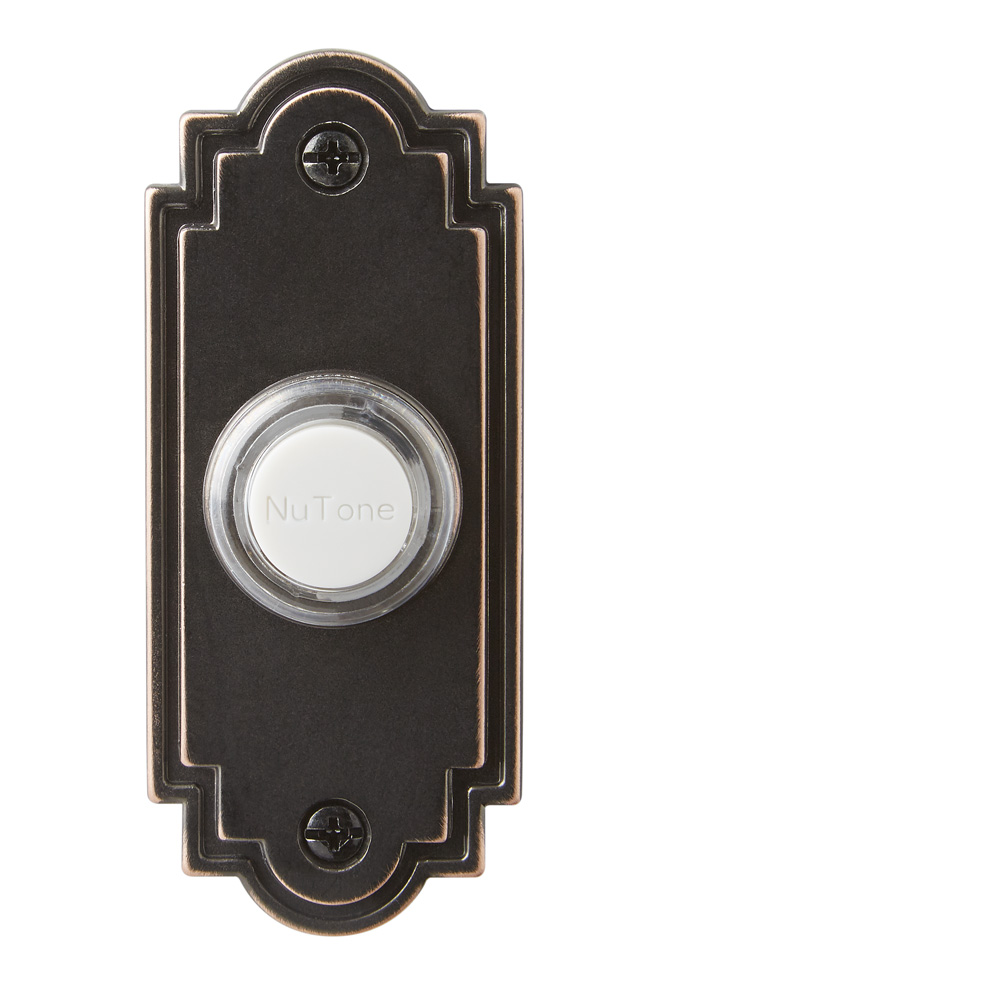 Lighted Flat Oil-Rubbed Bronze Pushbutton