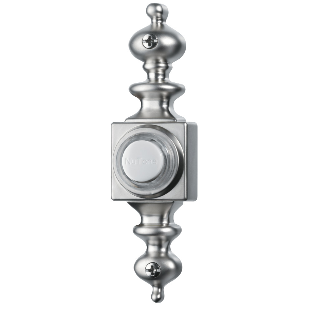 Lighted Dimensional Satin Nickel Pushbutton