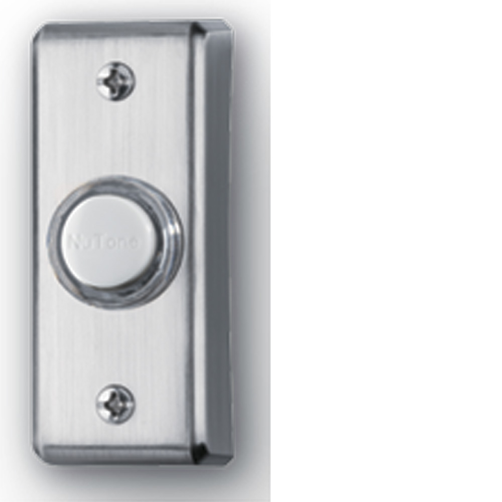 Lighted Rectangular Satin Nickel Pushbutton