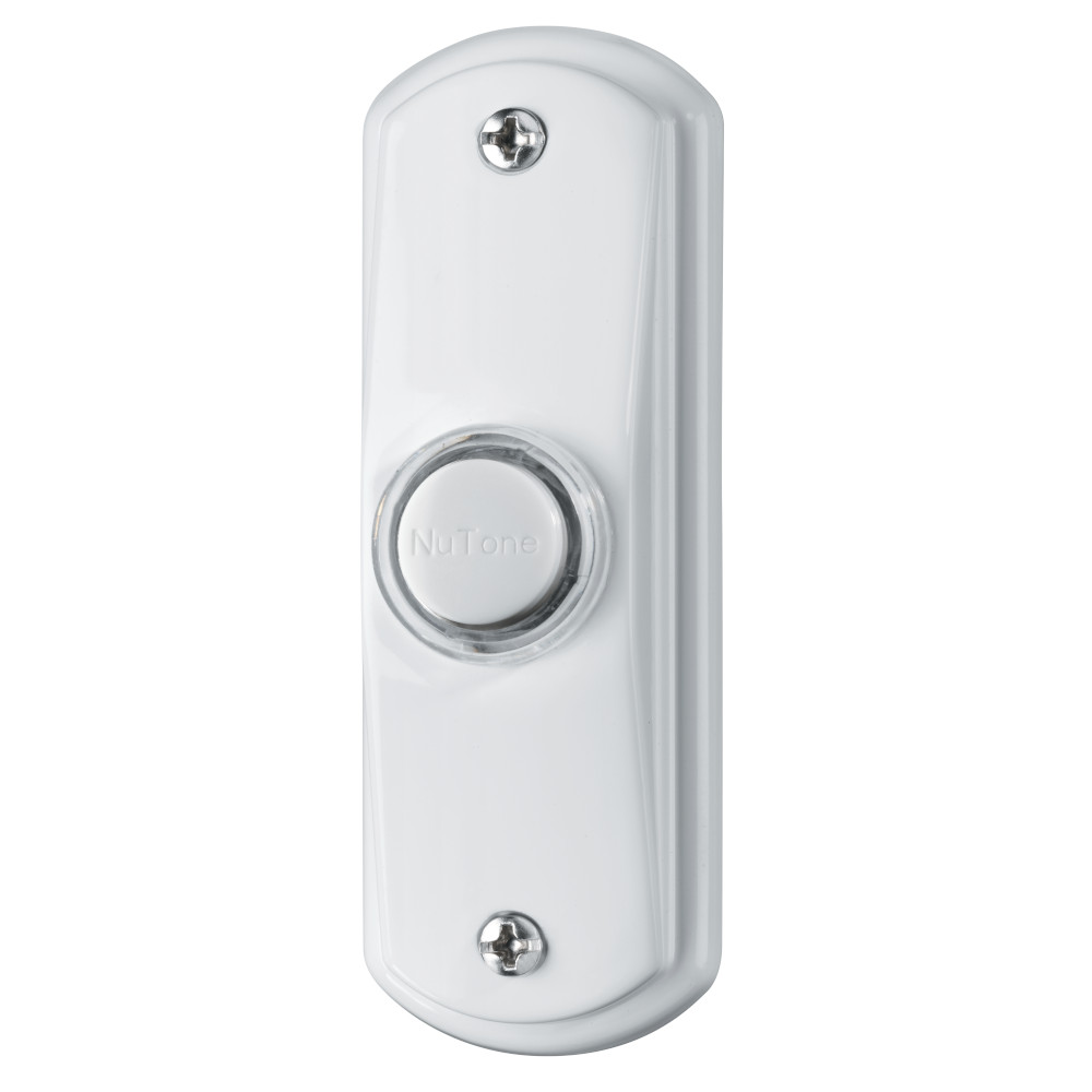 Lighted Rectangular White Pushbutton