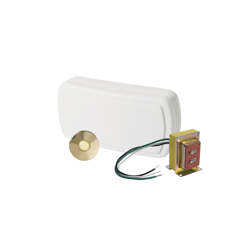 Builder Kit Doorbell with Brass Pushbutton