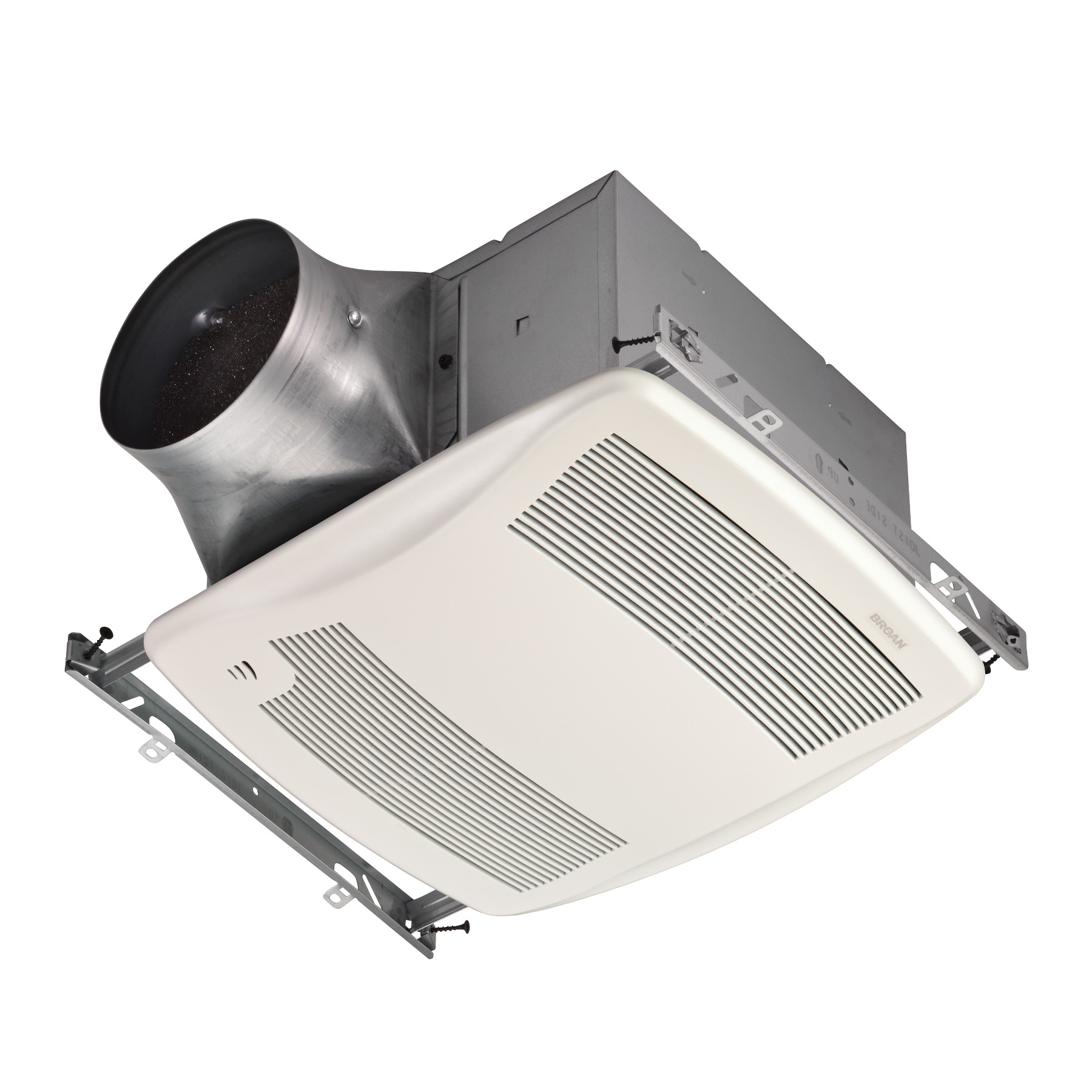 Broan® ULTRA GREEN™ Series 110 CFM Humidity Sensing Multi-Speed Ventilation Fan with White Grille, <
