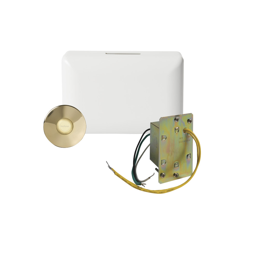 Builder Kit Doorbell with Lighted Brass Pushbutton
