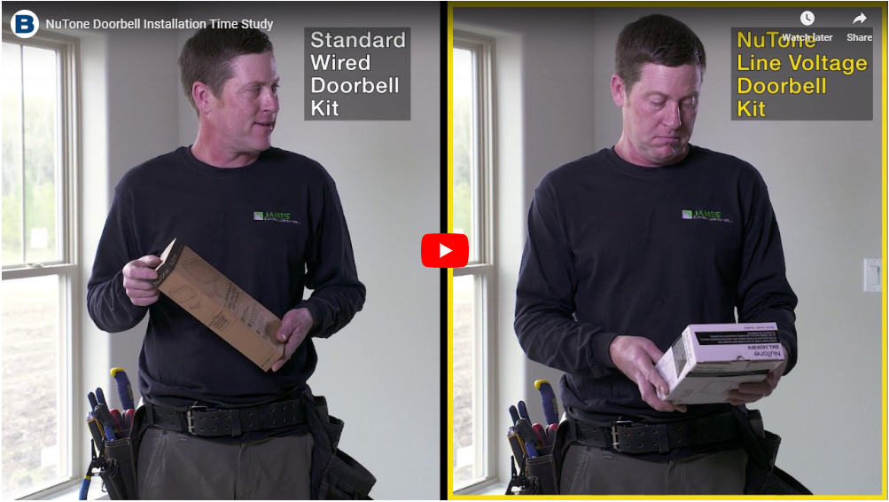 NuTone Doorbell Installation Time Study