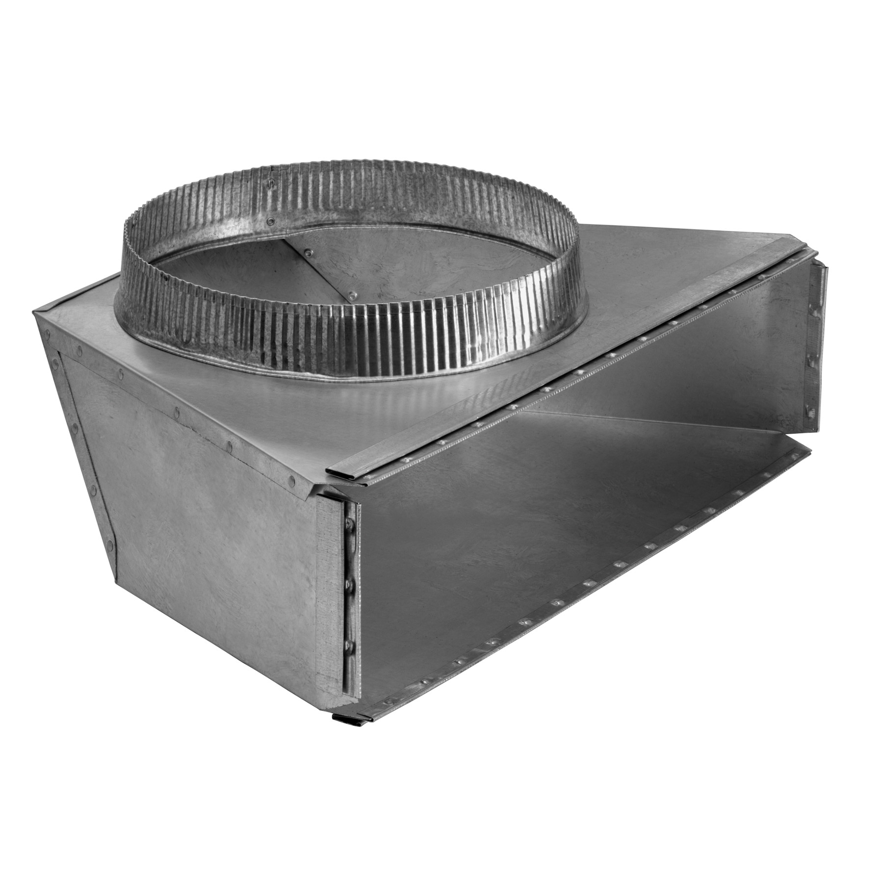 10-Inch Round Rear Transition for Range Hoods and Bath Ventilation Fans