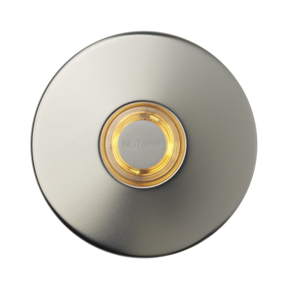"2-1/2"" Satin Nickel LED Lighted Round Doorbell Pushbutton"