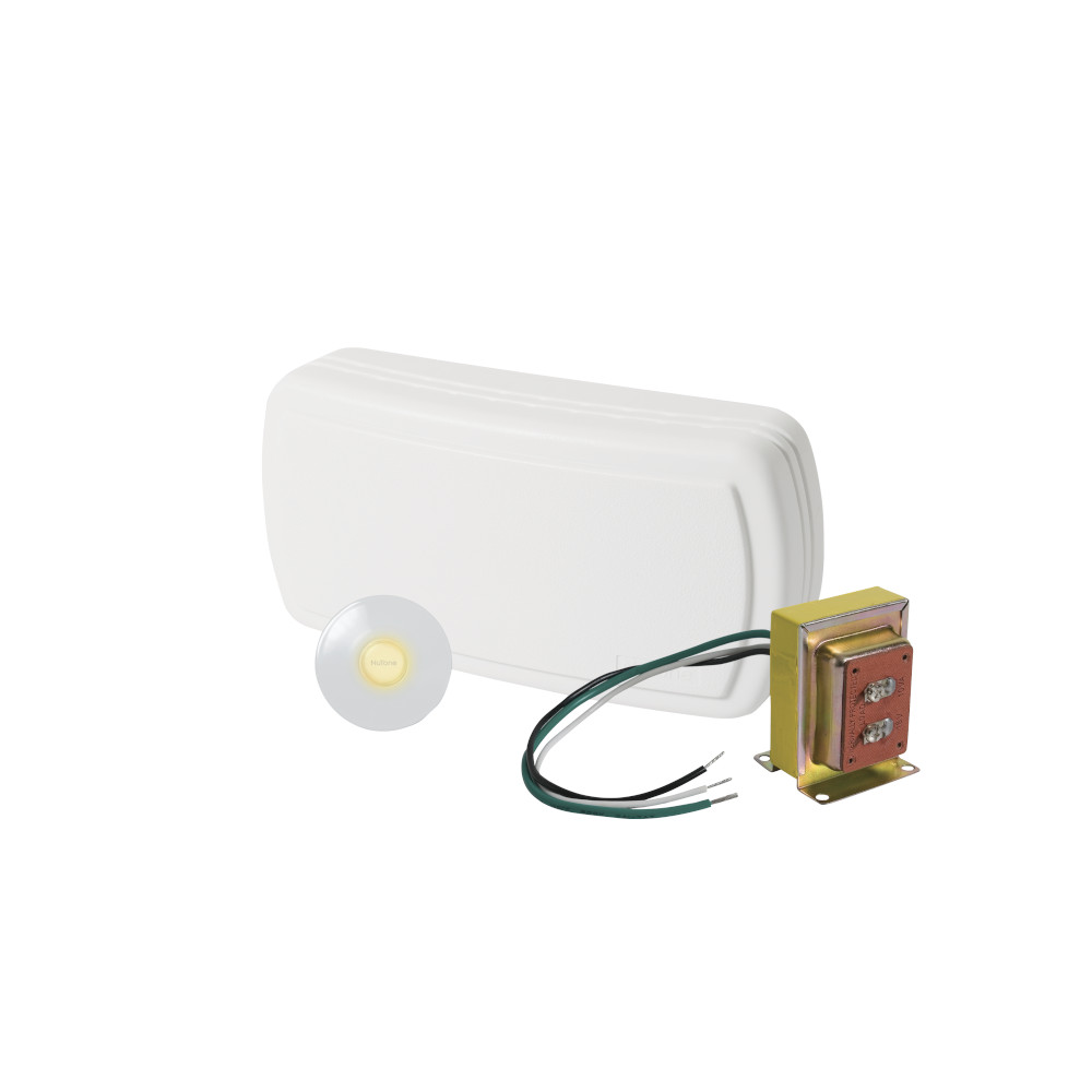 Builder Kit Doorbell with Lighted White Pushbutton