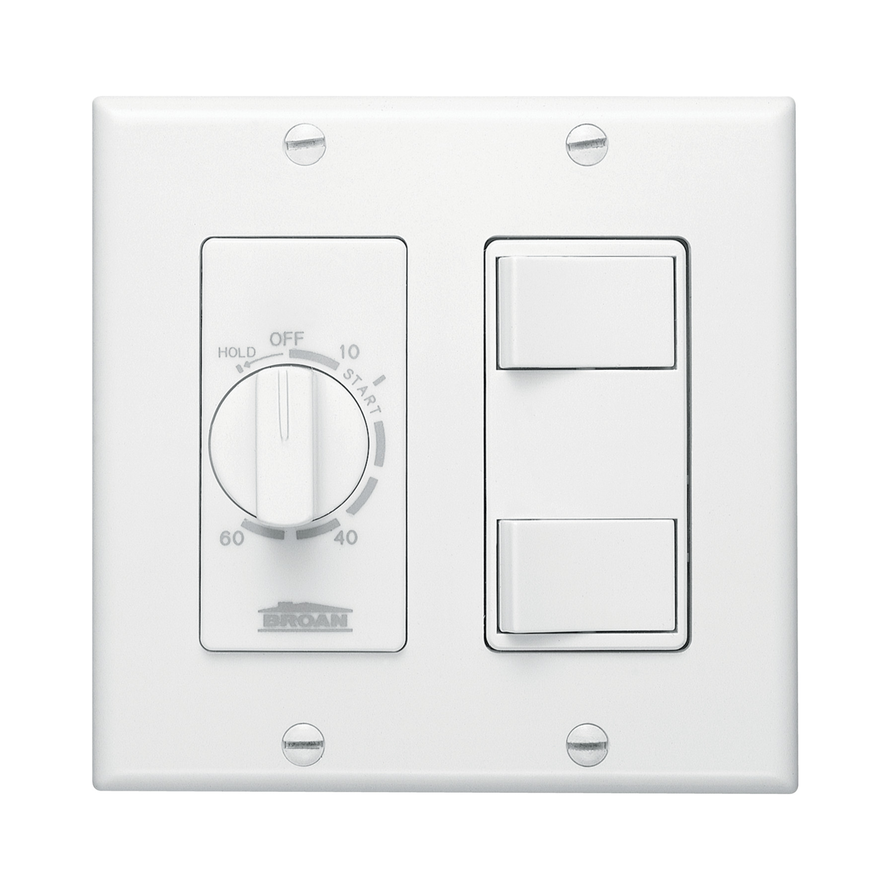 Broan-NuTone® 60-Minute Time Control w/ 2-Rocker Switches, White