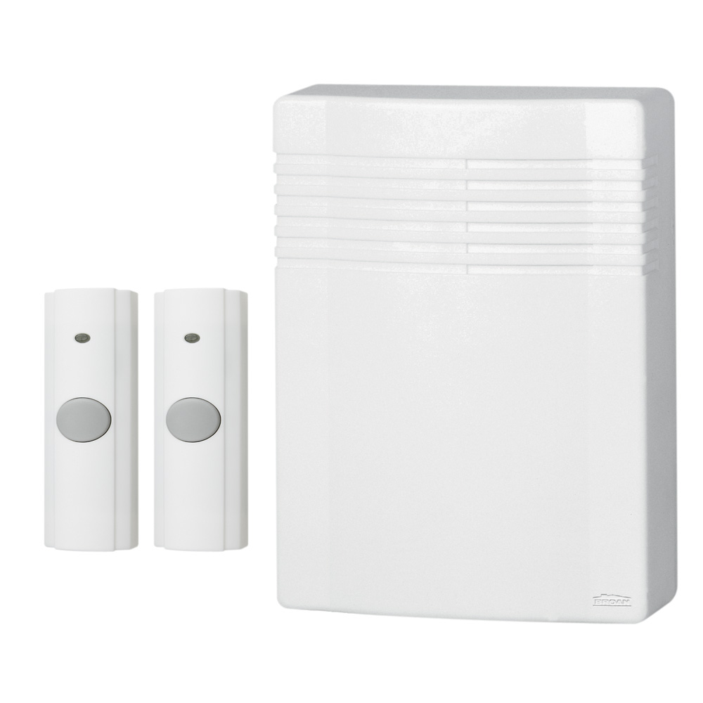 Wireless Doorbell Kit with Two Pushbuttons