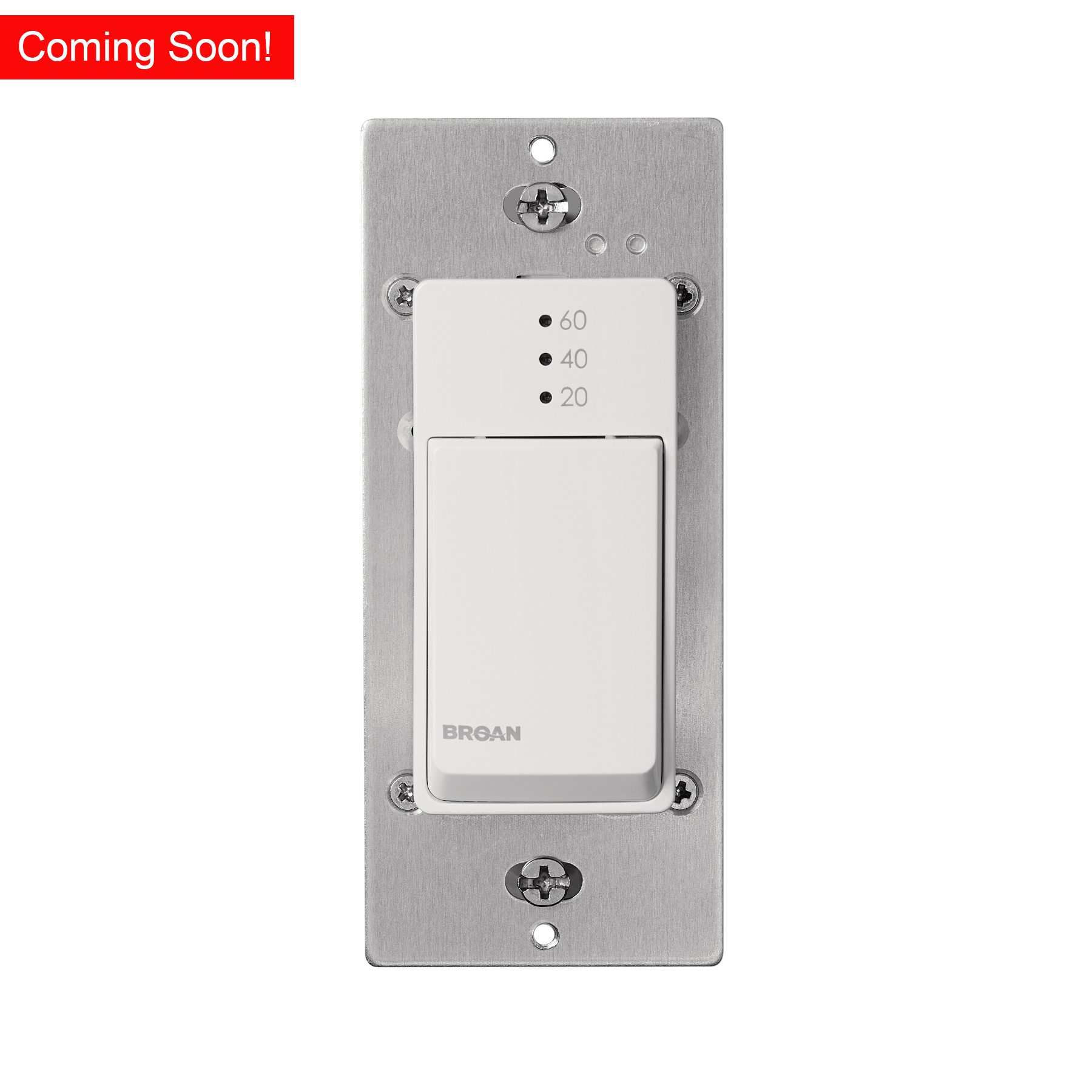 Broan-NuTone® 20-40-60 Min Countdown Timer Exhaust Fan Wall Control Switch