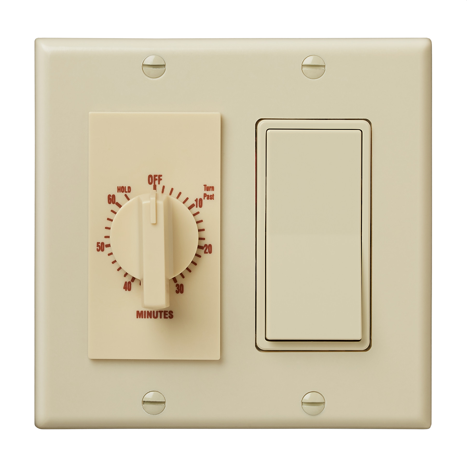 Broan-NuTone® 60-Minute Time Control w/ 1-Rocker Switch, Ivory