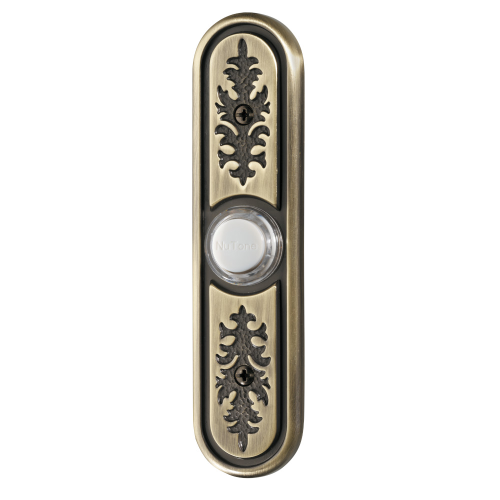Lighted Textured Polished Brass Pushbutton
