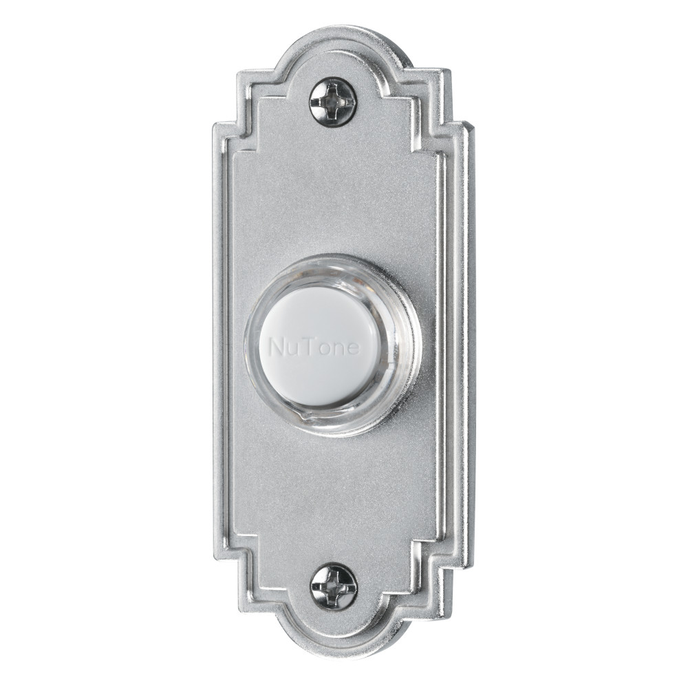Lighted Flat Satin Nickel Pushbutton