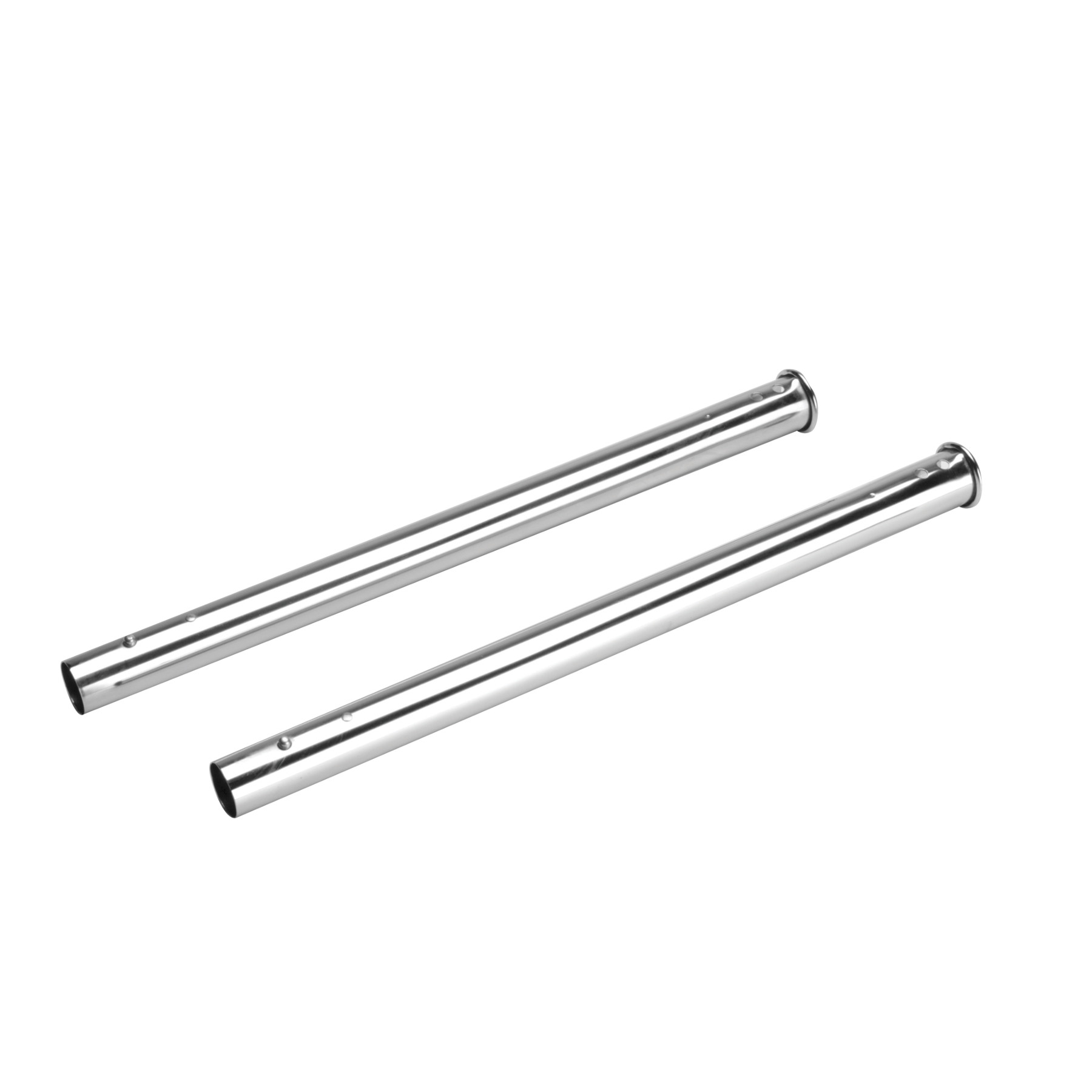 Button Lock Wands for Central Vacuums, with Plated Chrome Finish