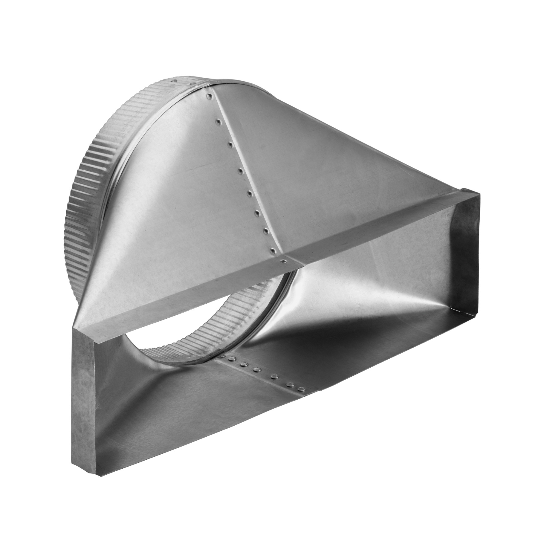 10-Inch Round Horizontal Transition for Range Hoods and Bath Ventilation Fans